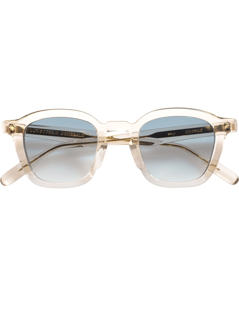 Bold Semi-Round Sunglasses in Smoked Crystal