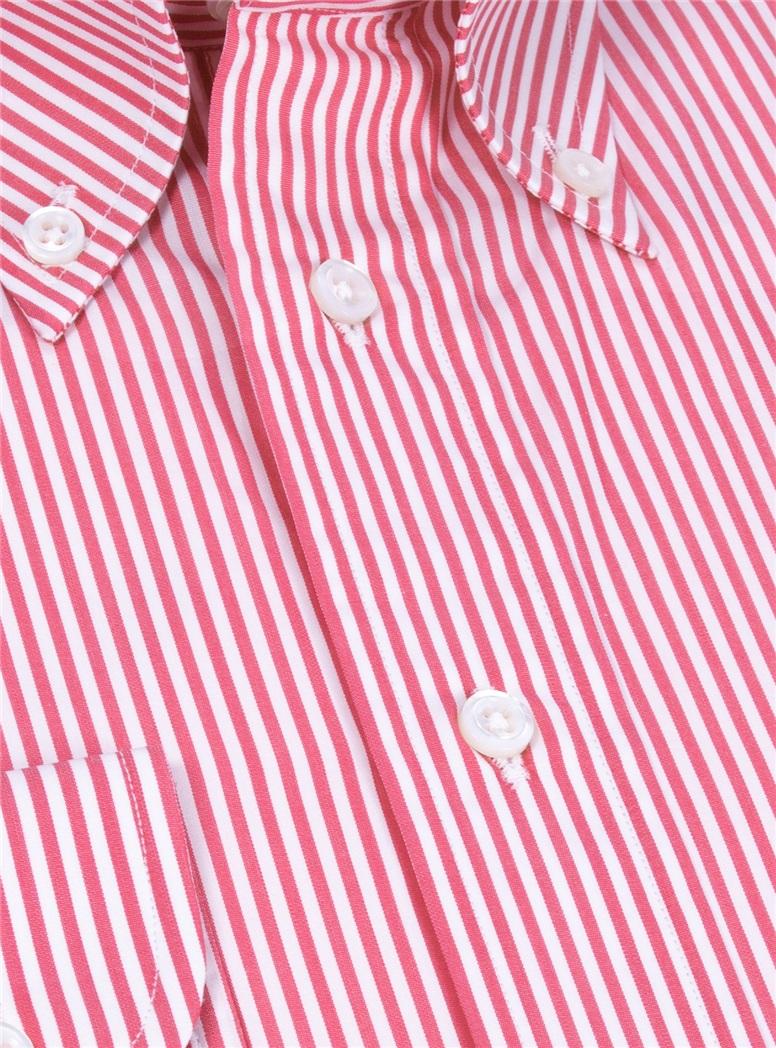 Red and White Stripe Buttondown