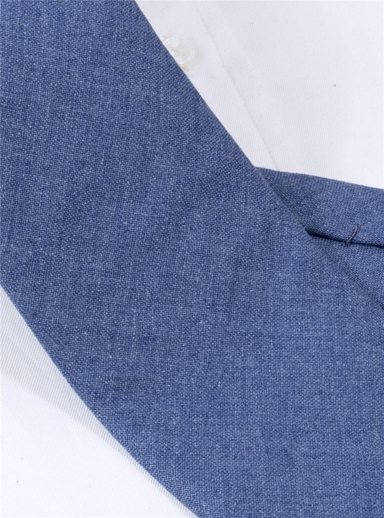 Silk and Cashmere Solid Tie in Cornflower