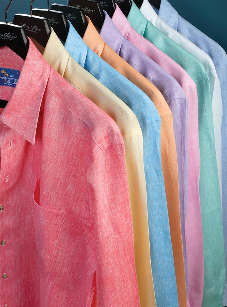 Purple Charleston Linen Shirt