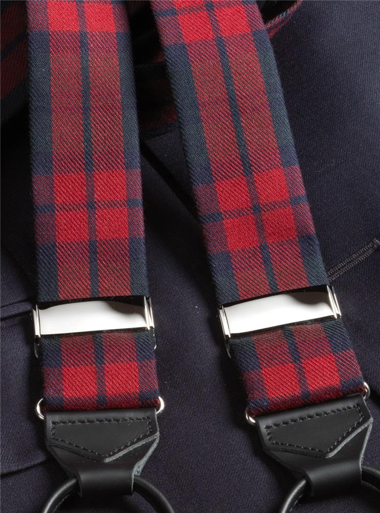 Wool Red Watch Tartan Braces