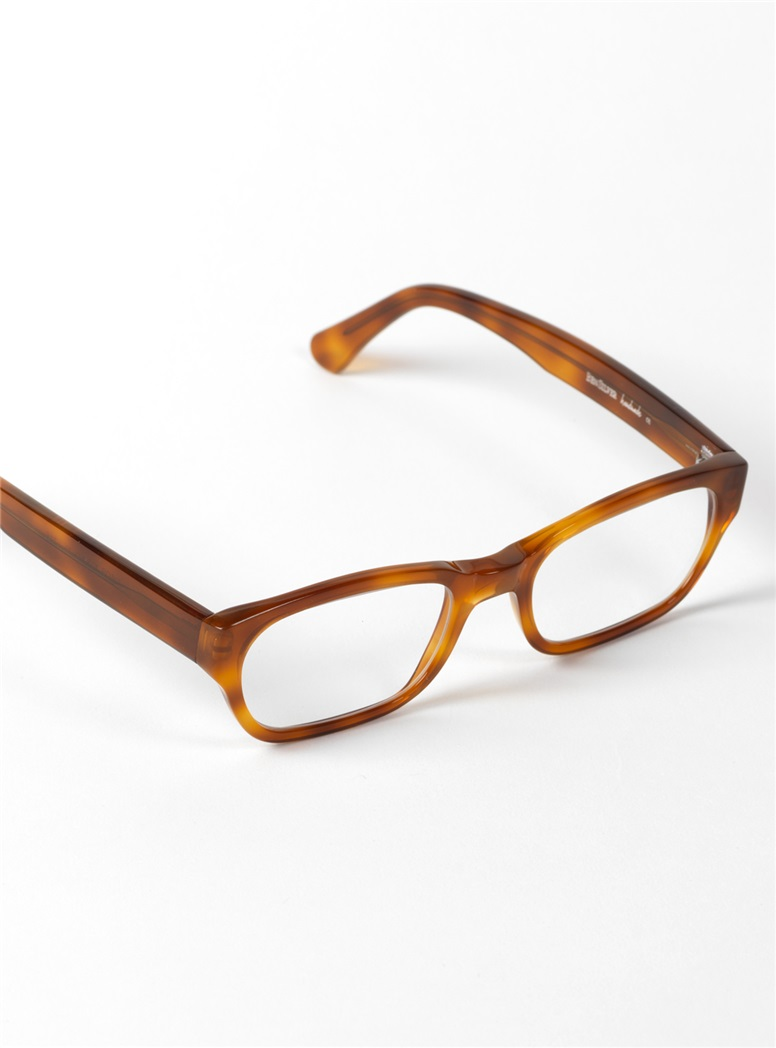 Bold Rectangular Frame in Amber