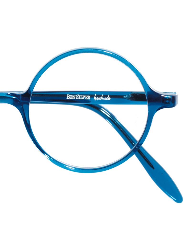 Slender Round Frame in Blue