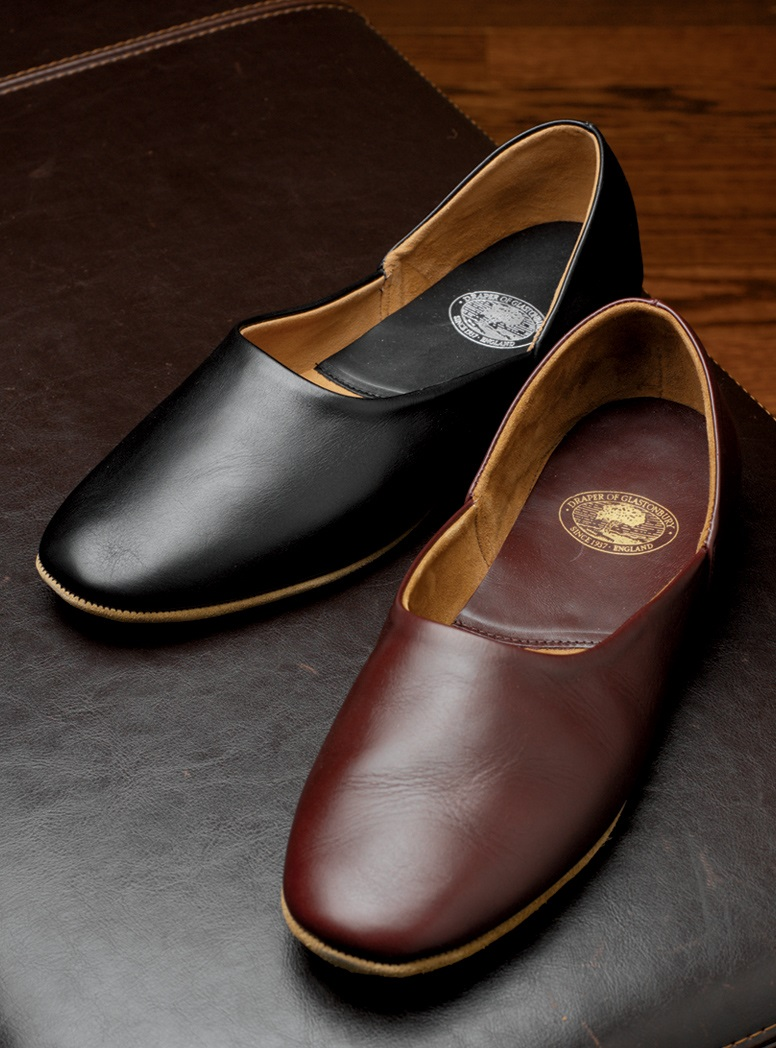The Charles Calf Skin Slippers with Suede Soles