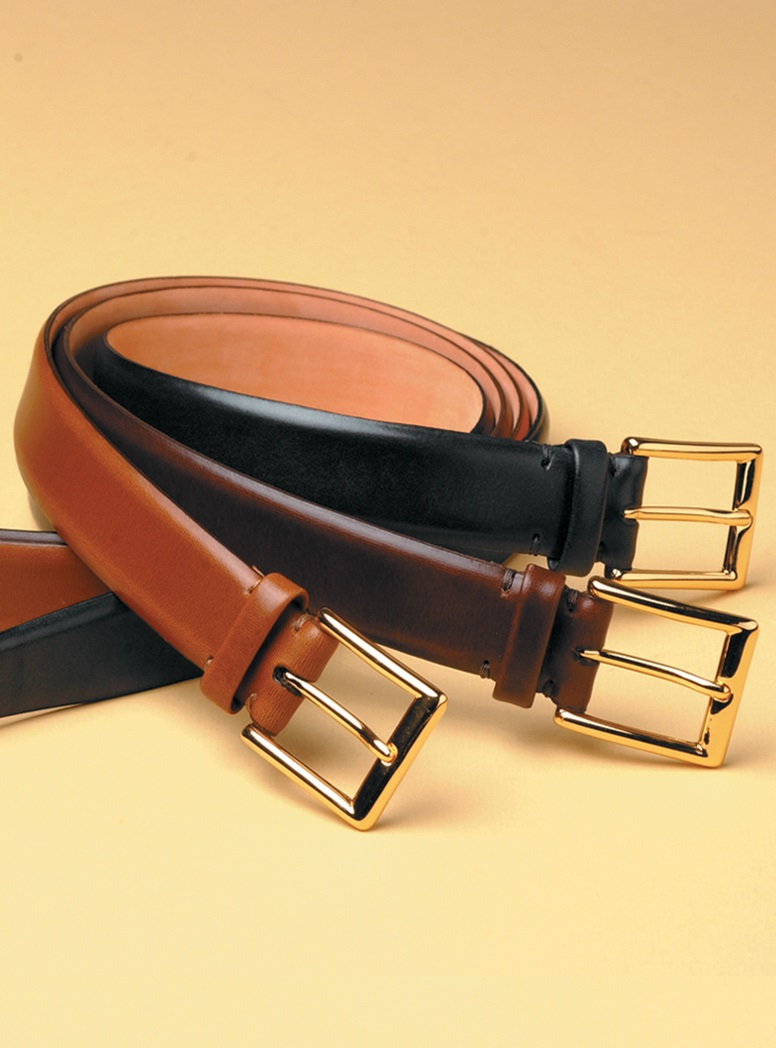 Feathered Edge Bridle Leather Belts