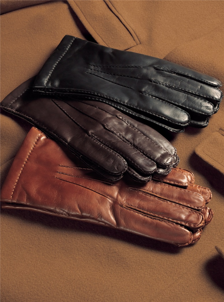Cashmere Lined Nappa Leather Gloves