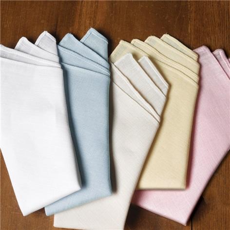 Pre-Folded Linen Pocket Squares