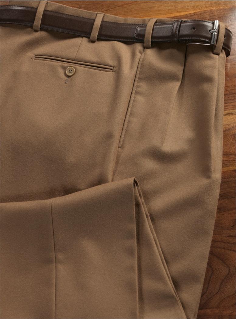 Wool Chestnut Trousers