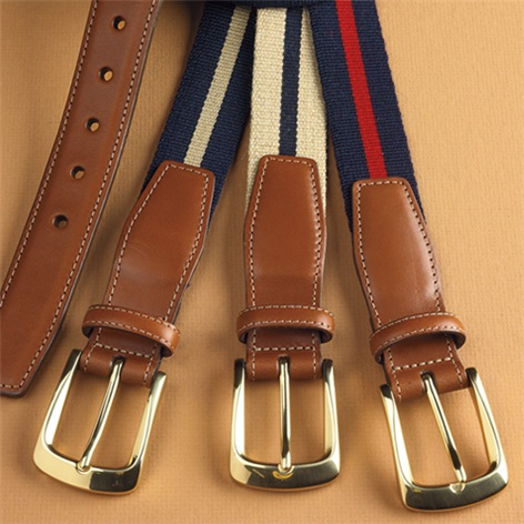 Striped Surcingle Twill Belts