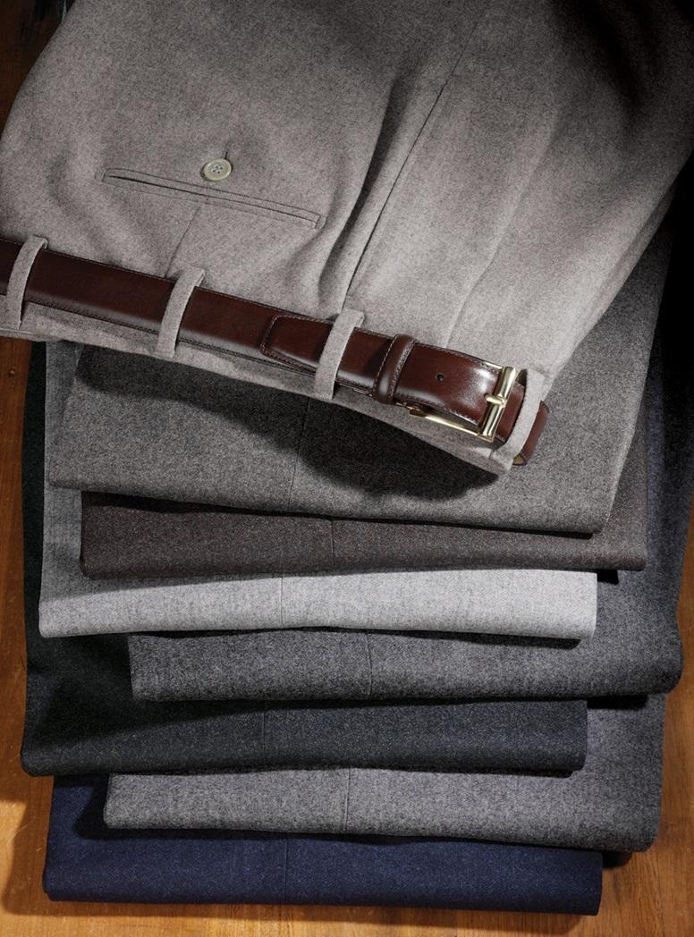Mélange Flannel Trousers