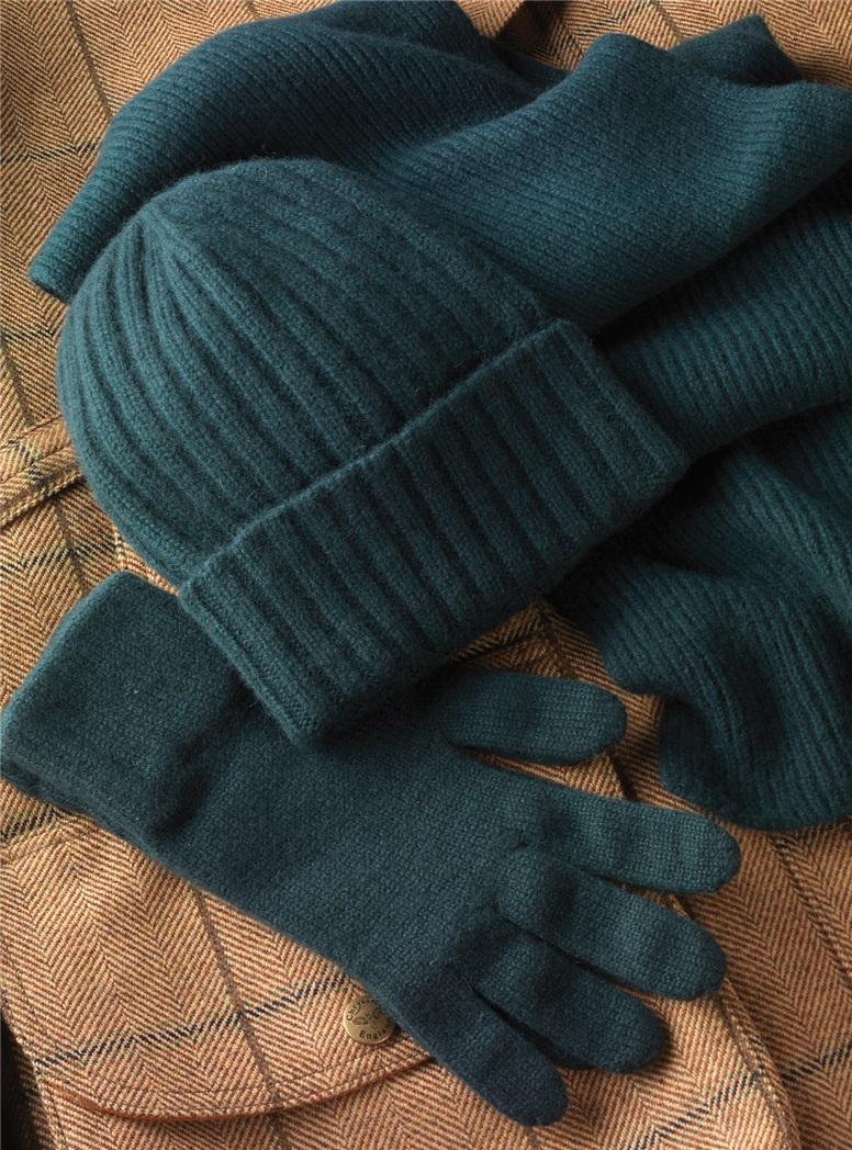 Cashmere Gloves in Bottle Green