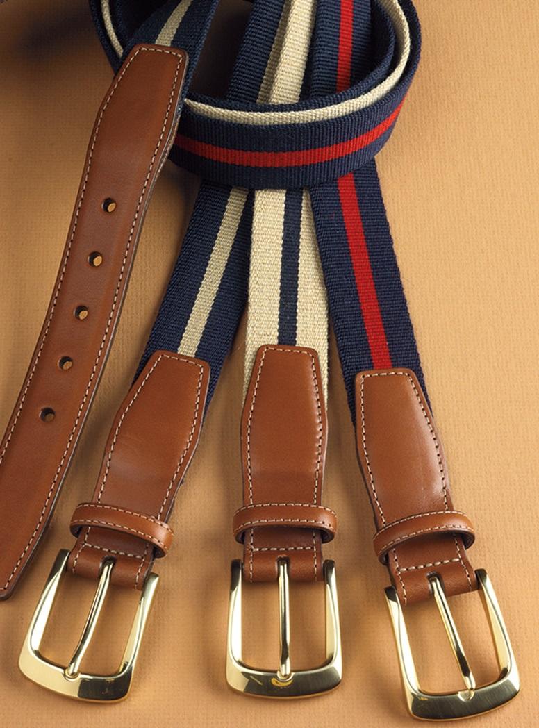 Striped Surcingle Twill Belts