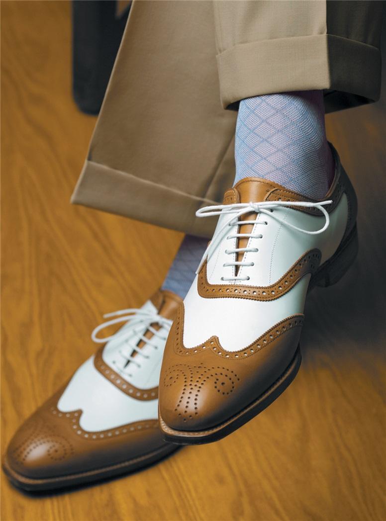 Cotton Grid Socks in Bright Colors