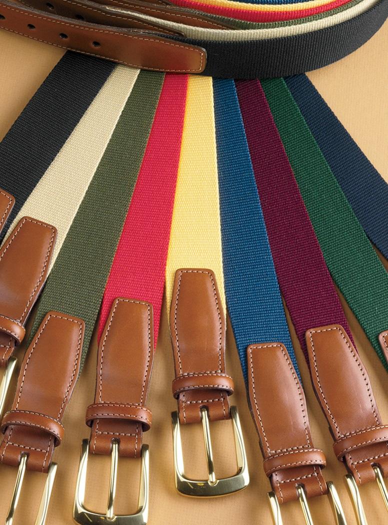 Solid Surcingle Twill Belts