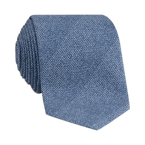 Silk Woven Tie in Marine