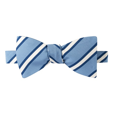 Mogador Striped Bow Tie in Cornflower