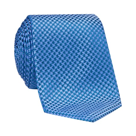 Silk Basketweave Tie in Cobalt and Royal Blue