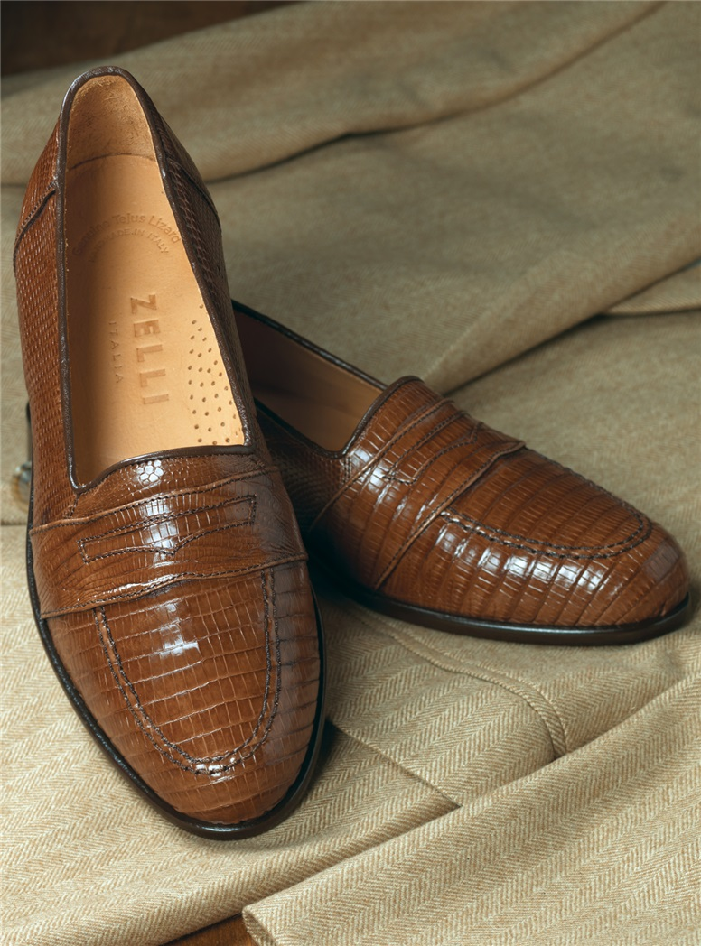The Lizard Loafer in Cognac
