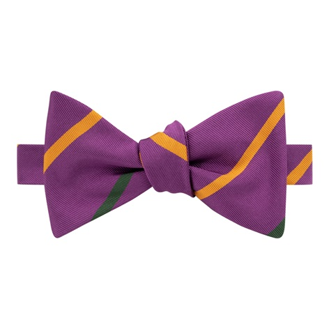 Mogador Double Bar Striped Bow Tie in Magneta