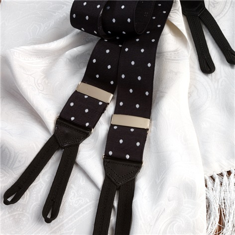 Black with White Dots Braces