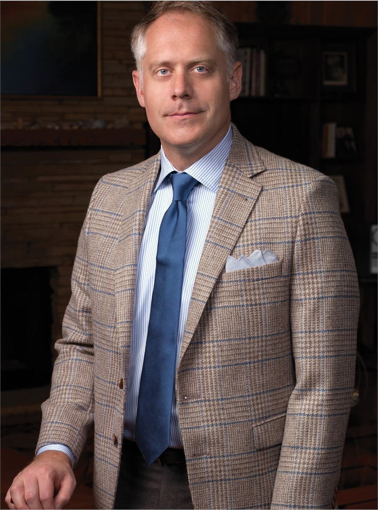 Tan and Cream Prince of Wales Plaid Sport Coat with Blue Overcheck