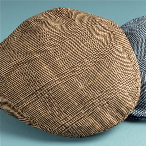 Wool and Linen Garforth Cap in Chocolate Glen Plaid