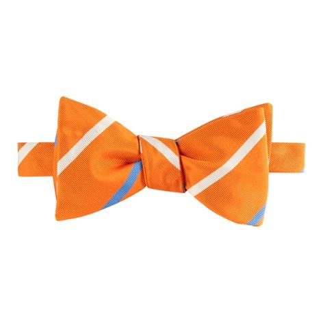 Mogador Double Striped Bow Tie in Tangerine