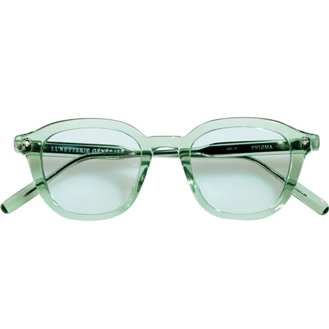 Bold Semi-Round Sunglasses in Emerald Crystal