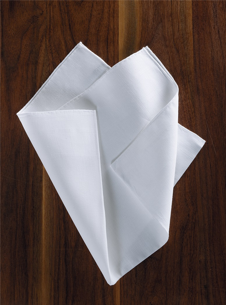 White Linen Engineered Pocket Square