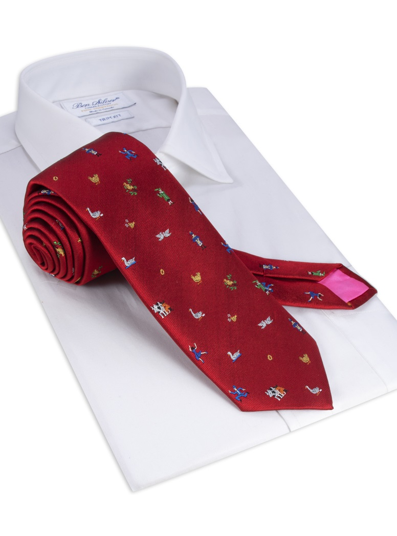 12 Days of Christmas Tie in Red
