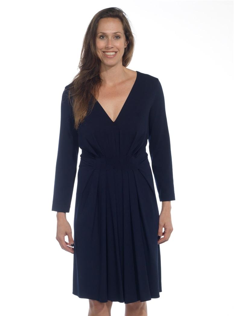 Ladies Jersey Dress in Navy