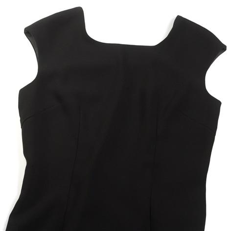 Ladies Cap Sleeve Dress in Black