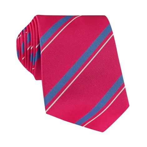 Mogador Silk Striped Tie in Magenta