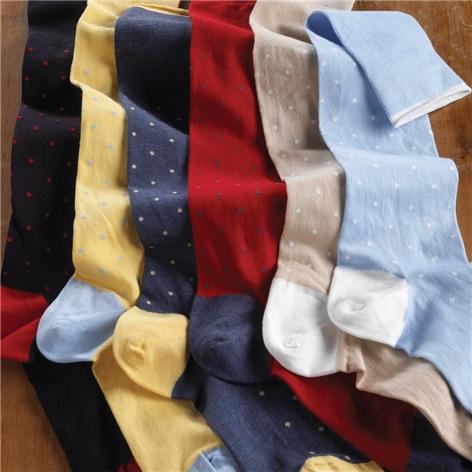 Woven Spot Socks