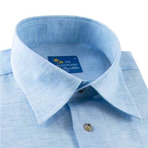 Sky Blue Charleston Linen Shirt