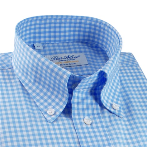 Light Blue Gingham Button Down