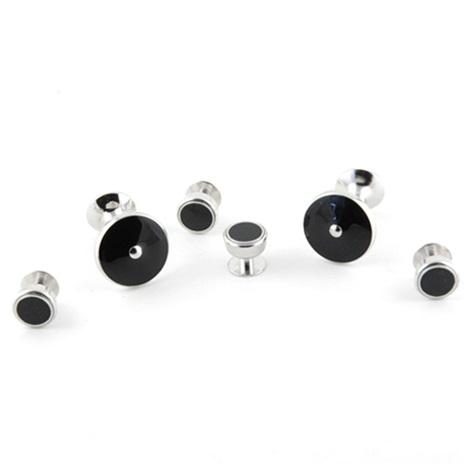 Solid Black on Silver Formal Set