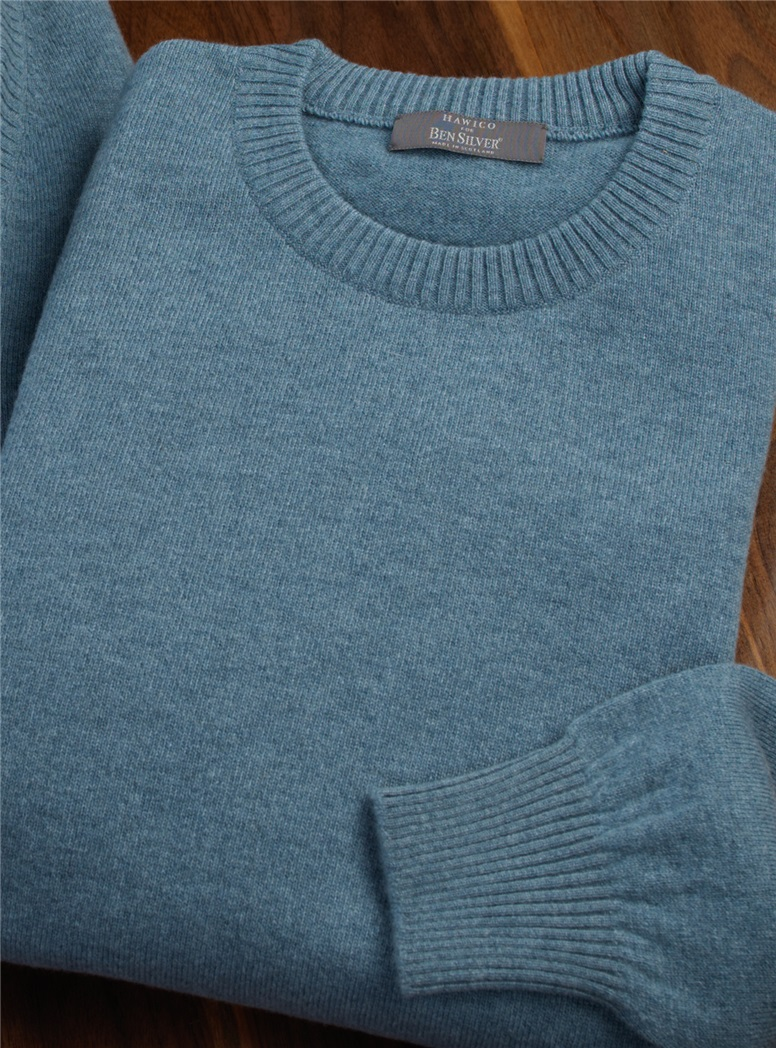 Cashmere Crewneck Sweater in Fog