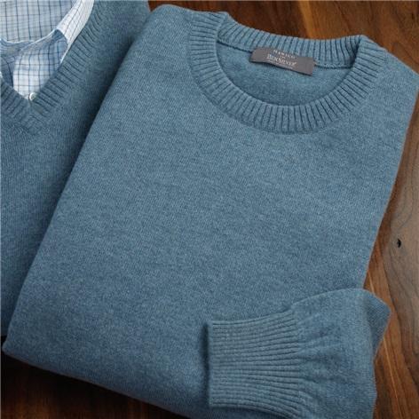 Cashmere Crewneck Sweater in Fog