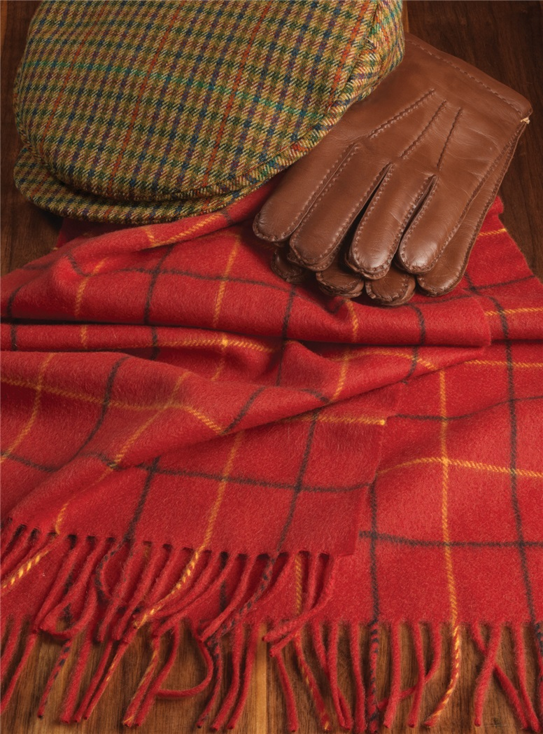 Cashmere Tattersall Check Scarf