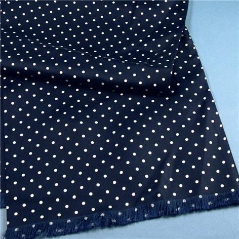 Silk Churchill Dot Navy Scarf