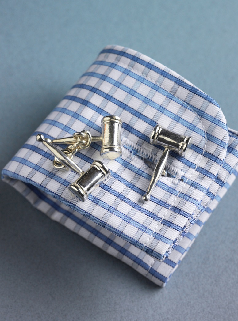 Sterling Silver Double Gavel Cufflinks