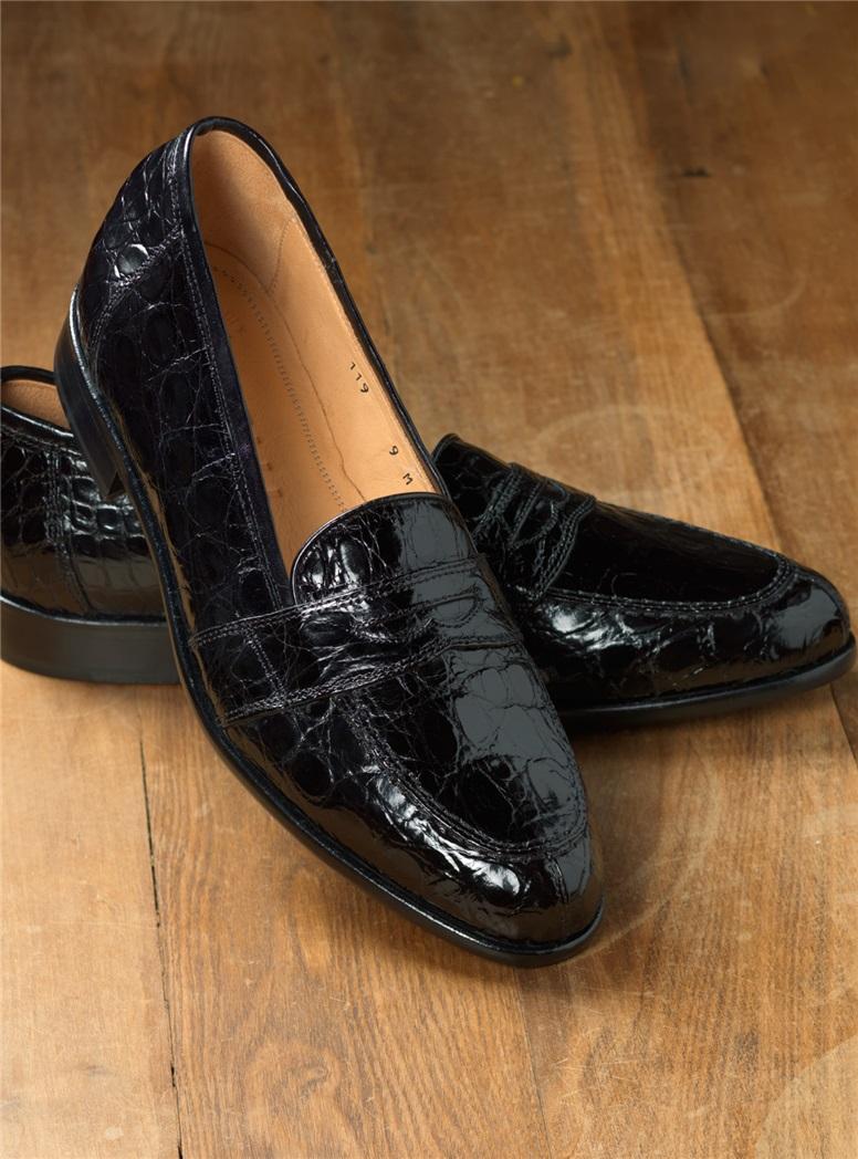 The Crocodile Loafer in Black