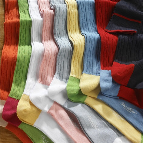Sea Island Cotton Cable Socks