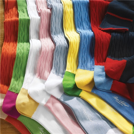 Sea Island Cotton Cable Socks