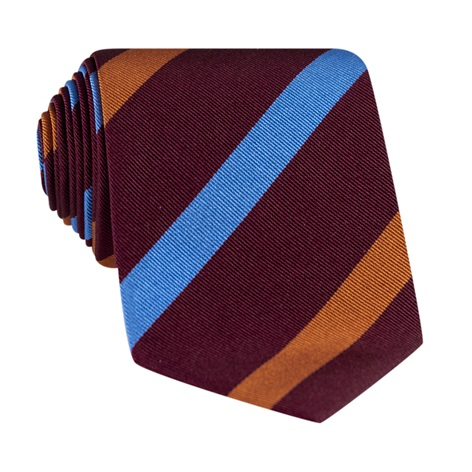 Silk Multi Stripe Tie in Wine