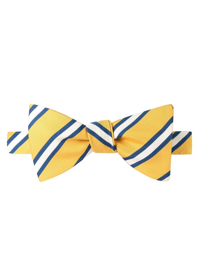 Mogador Striped Bow Tie in Lemon