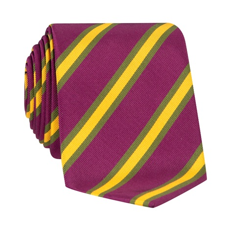 Mogador Striped Tie in Plum