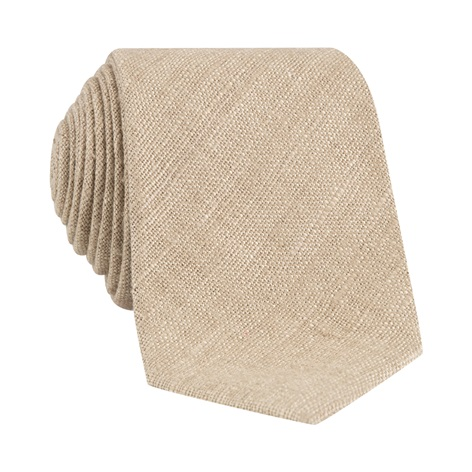 Silk Shantung Tie in Wheat