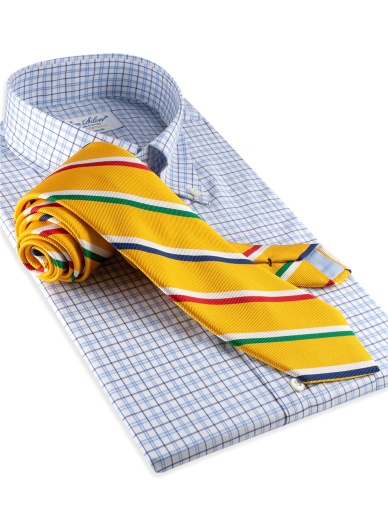 Mogador Silk Stripe Tie in Sun